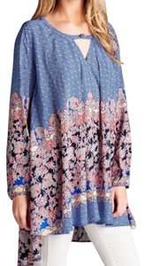 Southern Girl Fashion Bohemian Festival Swingy Print Classic Cape Printed High Low Fall Winter Spring Tunic