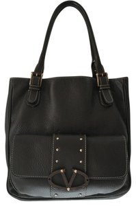 Valentino Designer Leather Tote in Espresso