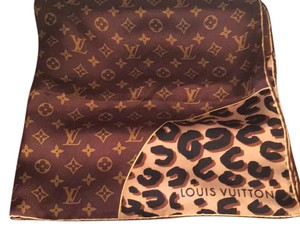 Louis Vuitton leopard and monogram square