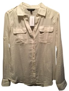 Banana Republic Button Down Shirt White/Off-White