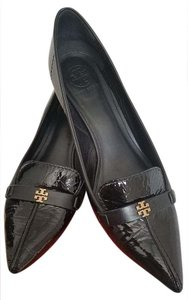 Tory Burch Patent Leather Eliza Black Pumps