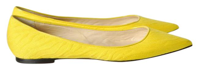 Item - Yellow 'alina' Woven - Flats Size EU 37 (Approx. US 7) Regular (M, B)
