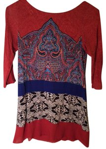 Anthropologie 66170 Made In Vietnam. T Shirt Red