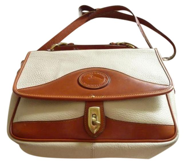Item - All Camel and Cream Pebbled Leather Messenger Bag