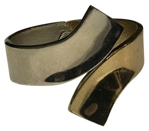 Other silver gold two tone metal cuff bracelet