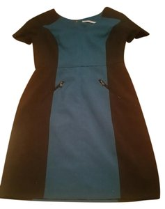 Marc New York short dress turquoise and black on Tradesy