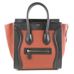 Céline Tote in Rust & Black