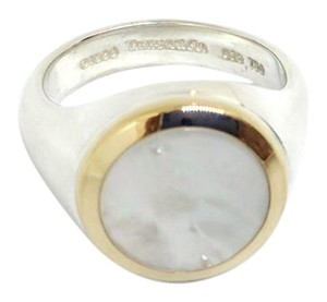 Tiffany & Co. Tiffany & Co. Mother of Pearl Signet Ring