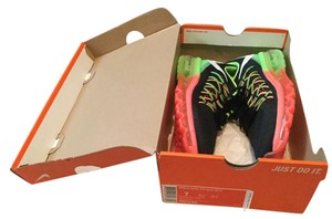 Nike $190 New In Box Running Sneakers Black, Pink,Green Athletic