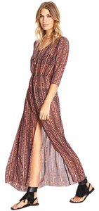 Multi-color Maxi Dress by Forever 21 Maxi Sheer Cover Up Beach
