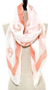 Nautical Anchor Sea Coral Scarf Pareo Wrap Coverup