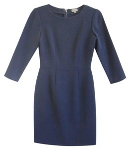 Daniel Cremieux Cotton Sheath Crew-neck Crepe Dress