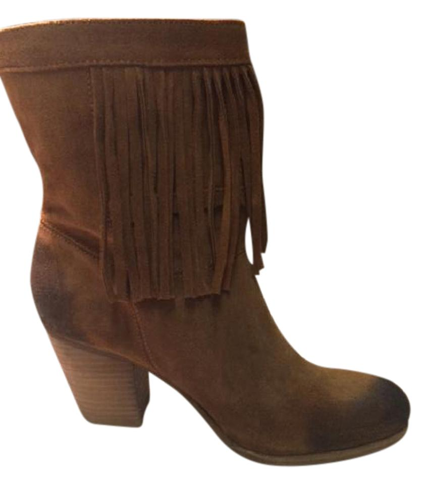Denim & Boots/Booties Supply Tan Suede Fringed Boots/Booties & 2f6632