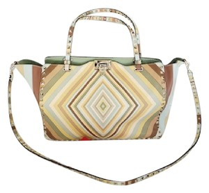 Valentino Trapeze Rock Stud Multi-colored Large Shoulder Bag