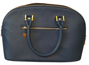 Joy & IMAN And Leather Satchel in Blue