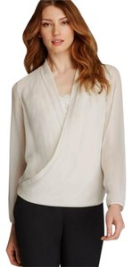 Eileen Fisher Extremely Sheer Silk Georgette Stretch Cuffs Stretch Back Hem Sweater