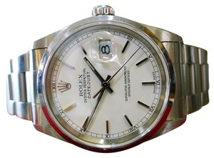 Rolex MENS ROLEX OYSTER PERPETUAL DATEJUST 16200 STAINLESS STEEL WATCH 2000