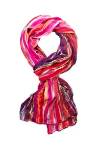 Missoni Scarf With Abstract Stripe Pattern Throughout