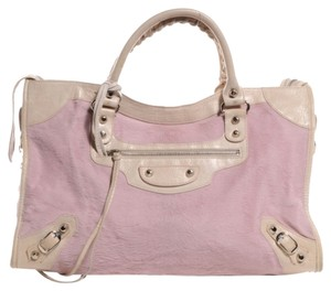 Balenciaga Pony Hair Satchel in Pink