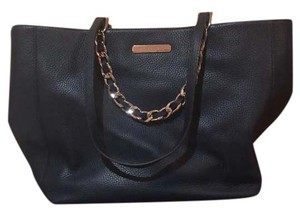 Michael Kors Cynthia Mk Saffiano Leather Satchel in Navy Blue/Gold hardware