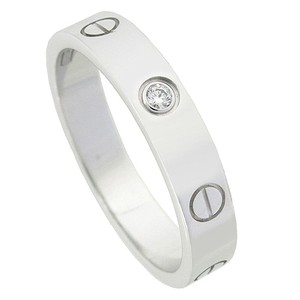 Cartier Cartier LOVE Wedding Band White Gold 1 Diamond