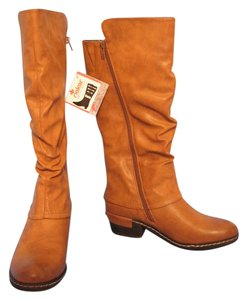 Rieker Leather Riding Brown Boots