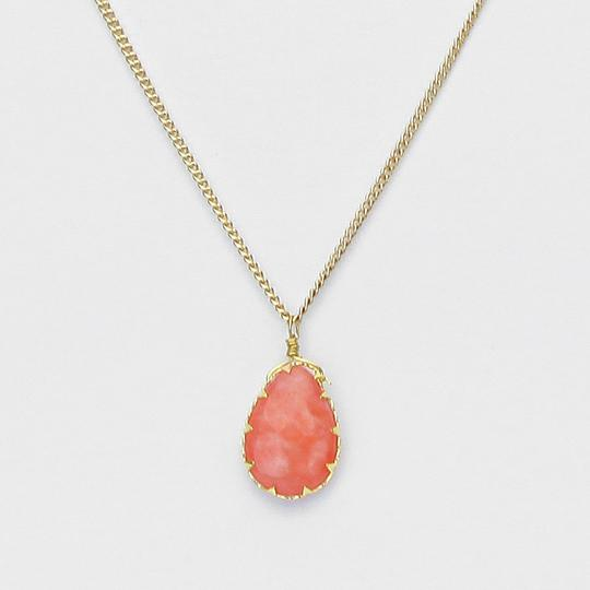 Other Gemstone Coral Pendant Necklace Chain Image 1