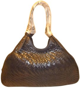 Cole Haan Genevieve Weave Triangle X-lg Leather Excellent Condition Hobo Bag