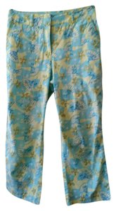 Lilly Pulitzer Resort Summer Vacation Capris Carribean Teal, Lime, White