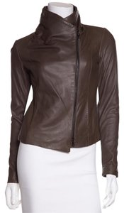 Vince Olive Leather Jacket