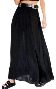 Other Long Boho Maxi Skirt Black