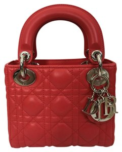 Dior Christian Leather Quilted Charm Cross Body Bag
