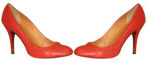 J.Crew Leather Pre-owned Brick Red Pumps