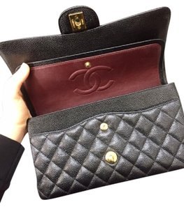Chanel Burgundy Classic Double Flap Shoulder Bag