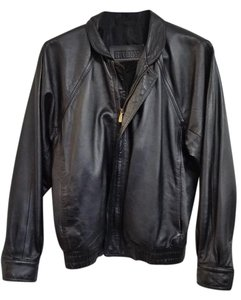 Bally Leather Motorcycle Classic Leather Jacket