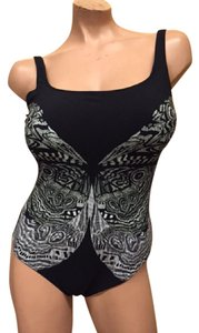 Gottex Gottex swimsuit slate/black butterfly size 12