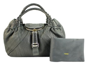 Fendi Spy Spy Spy Peekaboo Jour Satchel in Black