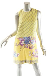 Etro short dress Yellow Multi Color on Tradesy