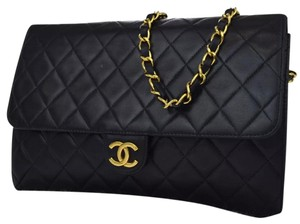 Chanel Vintage Lambskin Luxury Quilted Leather Shoulder Bag