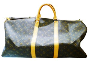 Louis Vuitton Keepall 55 Monogram Duffle Canvas Brown Travel Bag