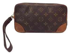 Louis Vuitton Marly Dragonne Wristlet in brown