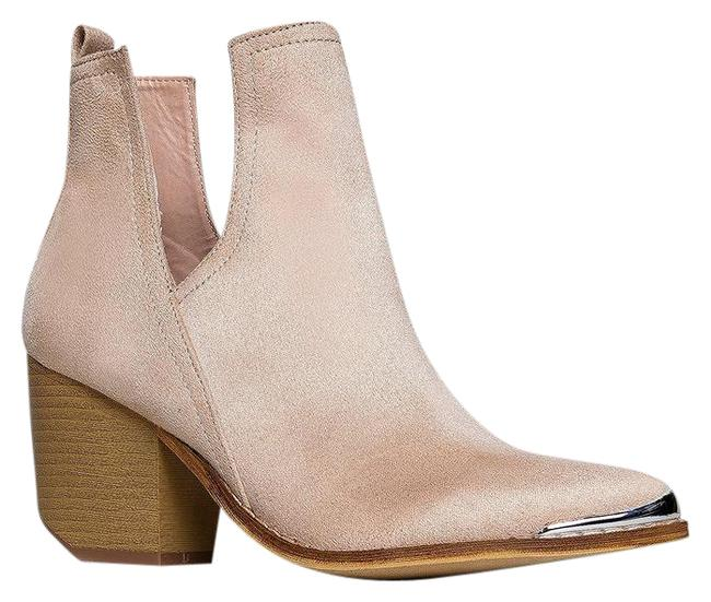 Item - Nude V-cutout Ankle Boots/Booties Size US 8.5 Regular (M, B)