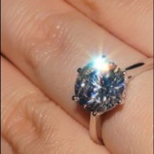 4CTW SOLITAIRE LAB CREATED DIAMOND RING