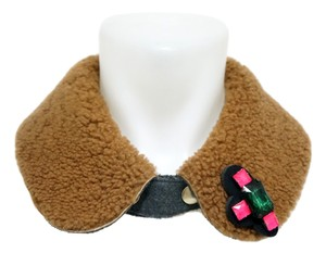 Marni MARNI Shearling Fur Collar with Marni Pin