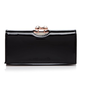 Ted Baker NWT Karron patent flap matinee wallet