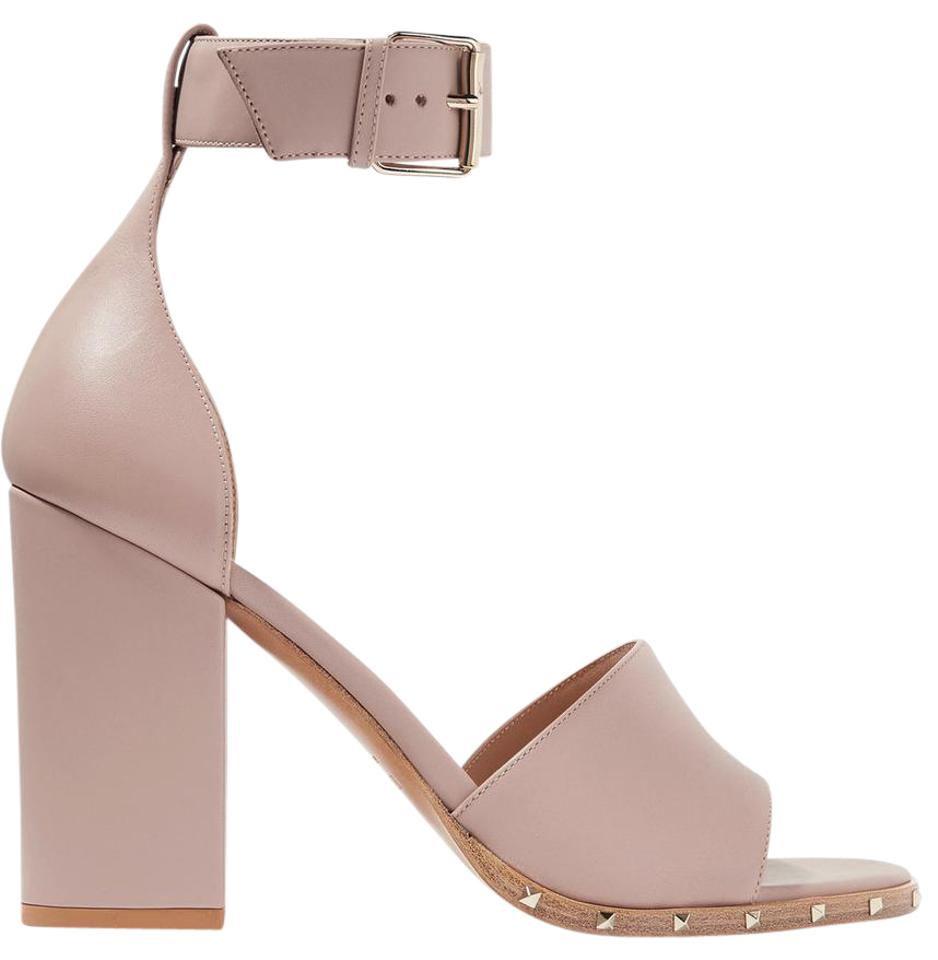 0079d258cd3e Valentino Blush New Rockstud Leather Sandals Size US 11 Regular (M ...