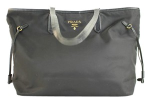 Prada Neverfull Saffiano Nylon Tote in Black