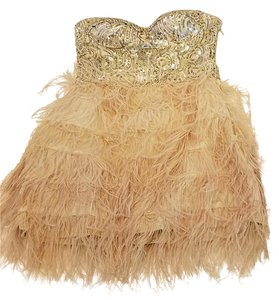 bebe Sequin Feather Party Vegas Dress