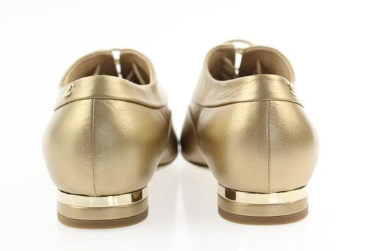 Chanel Pearl Lace Ballerina Gold Flats Image 2