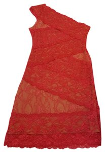 bebe Short Lace One Party Dress